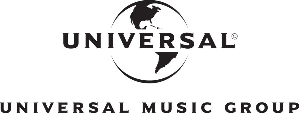Universal Music Group mustavalkoinen logo